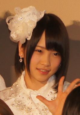 AKB48からの「卒業」を発表したAKB48の川栄李奈さん(2013年2月撮影)