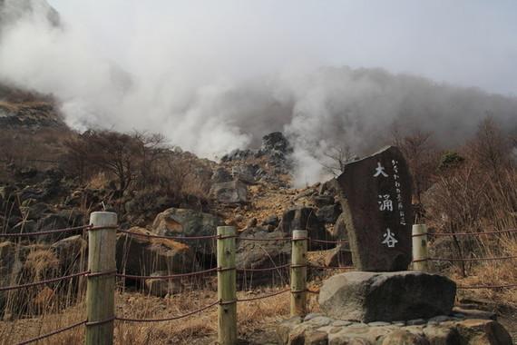大涌谷で火山性地震が急増中(画像は以前の大涌谷)