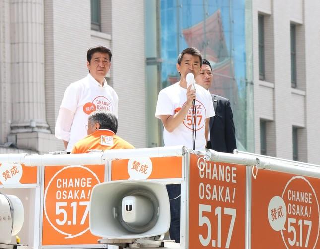 橋下氏は最後の演説で、若い世代に訴えた