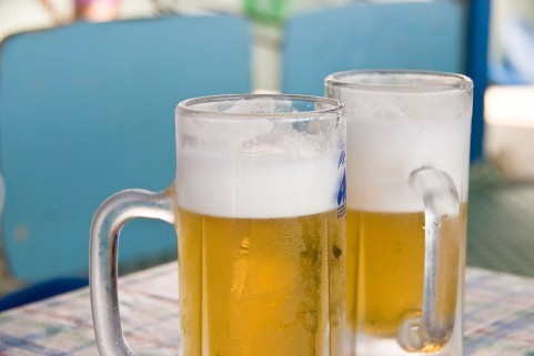 生ビールがとんだ騒ぎに