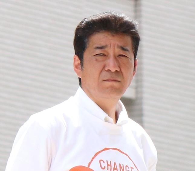 松井知事も擁護の声を上げた1人(15年5月15日撮影)