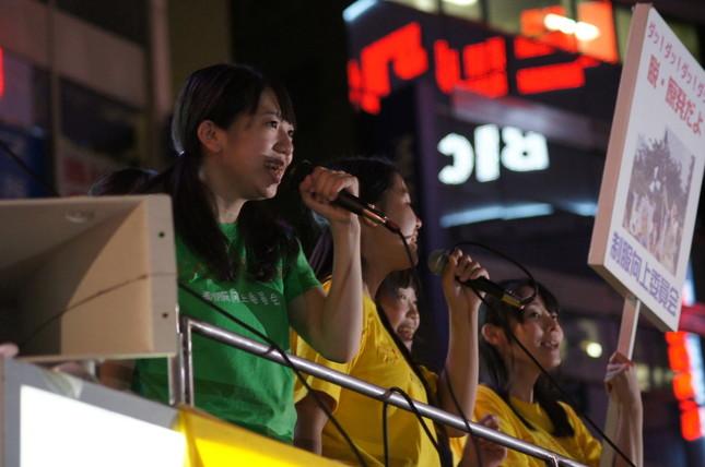 爆笑問題にメンバーがかみついた制服向上委員会(11年9月撮影)