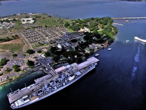 米国ツイッターユーザーが「PearlHarbor」続々投稿(画像は。真珠湾の北岸沿いに位置するパールシティ)