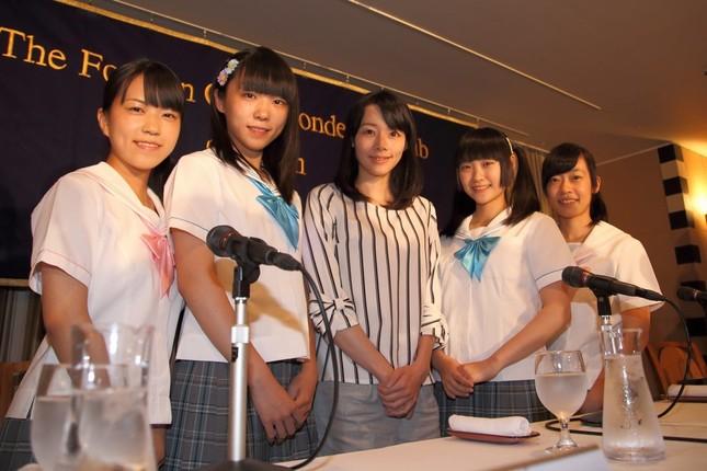 日本外国特派員協会で会見した制服向上委員会