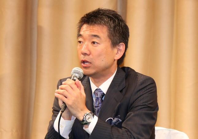 橋下市長が驚きの「指名」(2015年5月撮影)