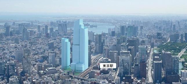 390メートルのビルは2027年に完成予定(画像は三菱地所のプレスリリースより)