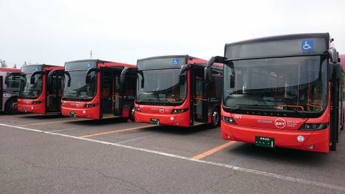 9月5日から運行が始まったBRT「ツインくる」(画像は新潟市サイトから)