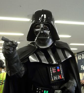 ダース・ベイダーは「マネーウォーズ」をどう見るか(写真は2015年10月17日のイベントで撮影したコスプレ)