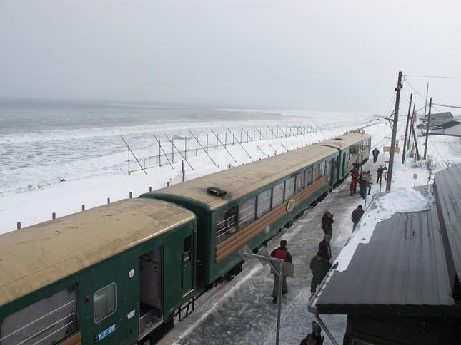 冬季限定1日2往復で、シーズン中2万人が利用する(2013年2月、J-CAST編集部撮影)