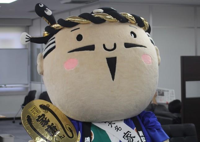「家康くん」は愛媛県の「みきゃん」を直接投票で破り優勝した。(写真は2015年7月撮影)