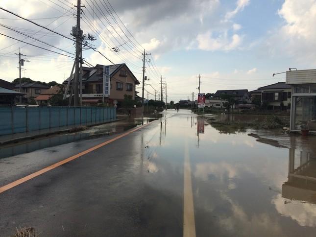 常総市の水害では市職員の平均残業時間が約139時間に及んだ(2015年9月撮影)