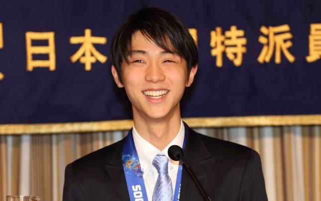 宇野昌磨選手との「イチャイチャ写真」が大量にアップされる事になった羽生選手。(写真は2014年4月撮影)