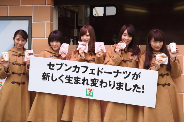 乃木坂46のメンバーがドーナツの一新をアピールした