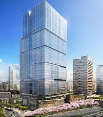 新ホテル「ザ・プリンスギャラリー東京紀尾井町」が入居するビルのイメージ図