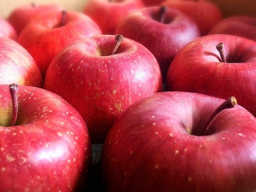 リンゴは丸ごと食べたい