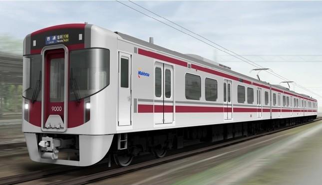 西鉄が17年3月に導入する「9000形」のイメージ図