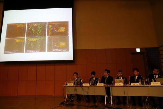 小保方氏の今後はどうなるのか(写真は2014年4月1日の調査委員会会見)