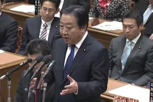 首相経験者が委員会での質問に立つのは異例だ(衆議院審議中継より)