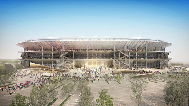 FCバルセロナは「開放的でエレガント、穏やかで時代に左右されない普遍なもの」と評価した(提供:日建設計)