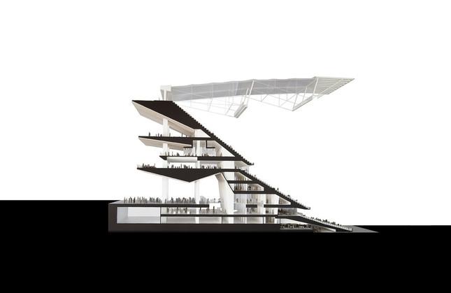 スタンドの垂直断面図(提供:日建設計)