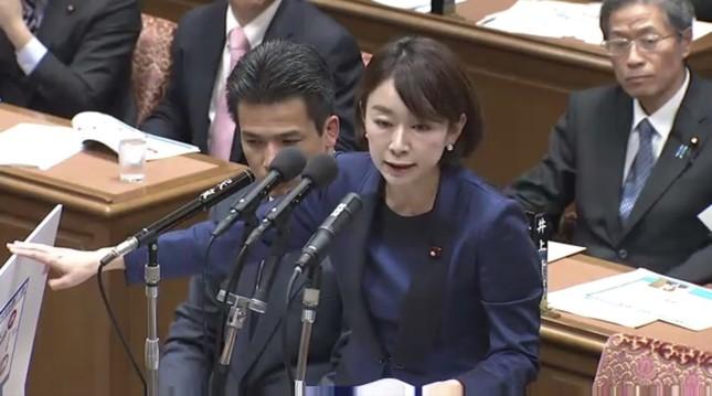 山尾氏は衆院予算委員会で匿名ブログを取り上げたことで注目が集まった(衆議院インターネット審議中継より)