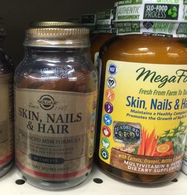 最初はこの「Skin, Nails & Hair」を見に行きました