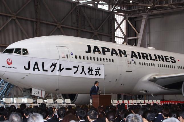 松井さんはJALの入社式で「練習」の重要性を説いた