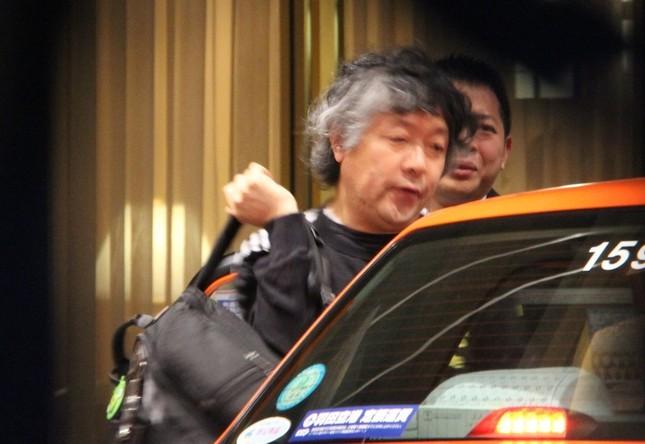 会場に到着した茂木健一郎氏