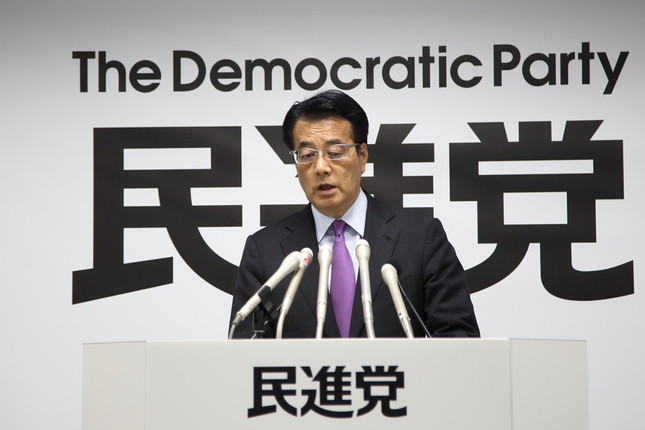 民進党の岡田克也代表は、あまりコメントしたくない様子だった