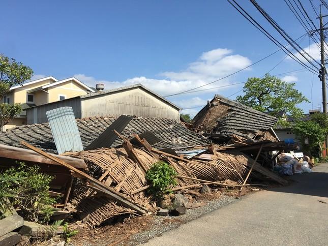 崩壊した家屋(森恭三さん提供)
