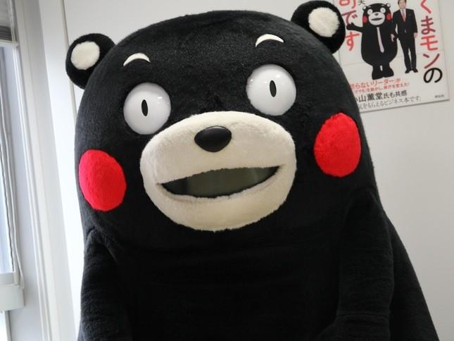 くまモン「復帰」に感動の声(14年6月撮影)