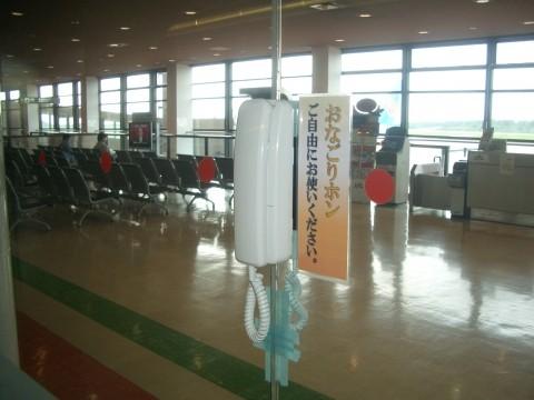 別れを「ドラマティック」に演出する(写真は秋田空港のおなごりホン。空港公式サイトより)