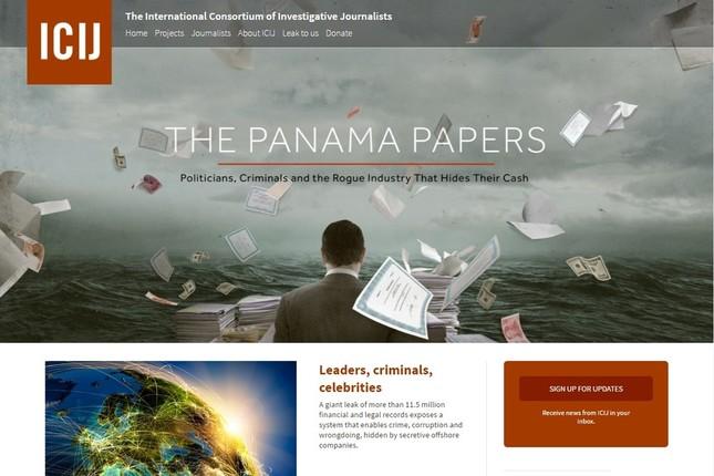パナマ文書に堀江氏がツイッターで反応した(写真はICIJのサイトのスクリーンショット)