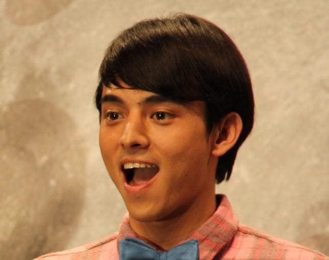 満島ひかりさんの弟、真之介さんは舞台「逆鱗」で瑛太さんと共演(写真は2015年10月撮影)