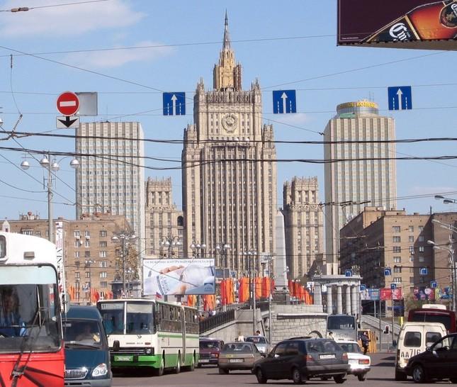 ロシア外務省(中央)から文書が間違って送られるという「珍事」が起きた