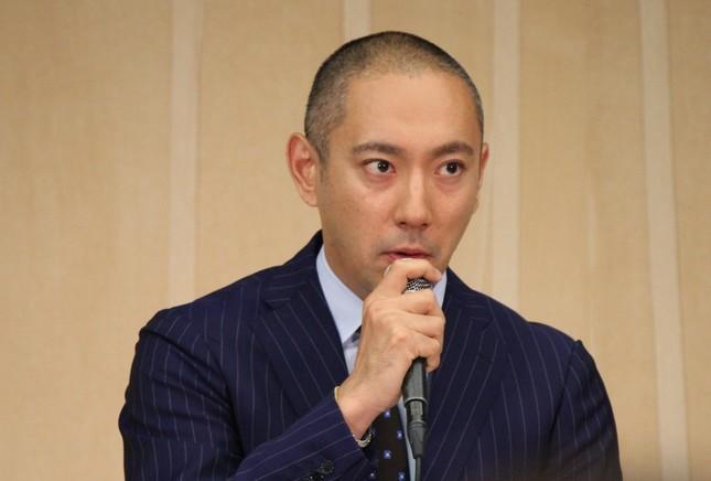 会見を開いた海老蔵さん(2016年6月9日撮影)