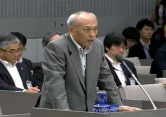 辞職の意向を固めた舛添要一知事(東京都議会インターネット中継)