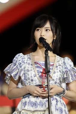 4位に入ったNMB48の山本彩さん (c)AKS