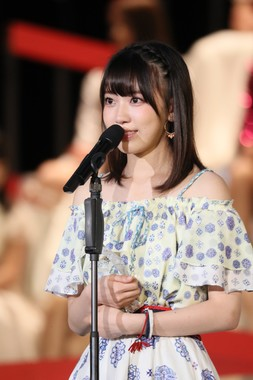 2年連続で「神7」入りしたHKT48の宮脇咲良さん (c)AKS