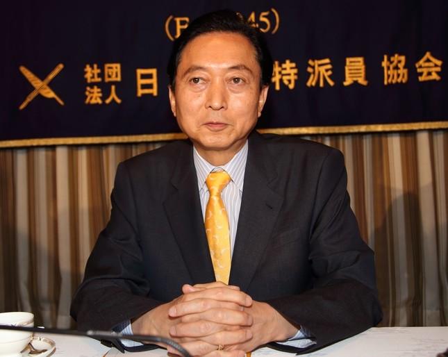 鳩山氏のAIIB顧問委員就任報道で波紋が広がっている(15年4月撮影)