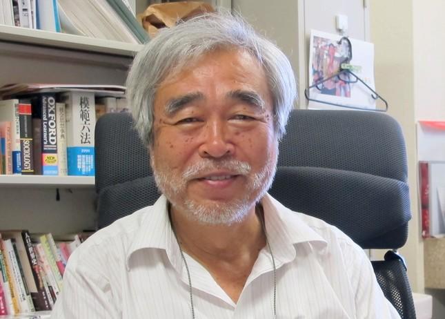 大橋正明教授(2016年7月6日撮影)