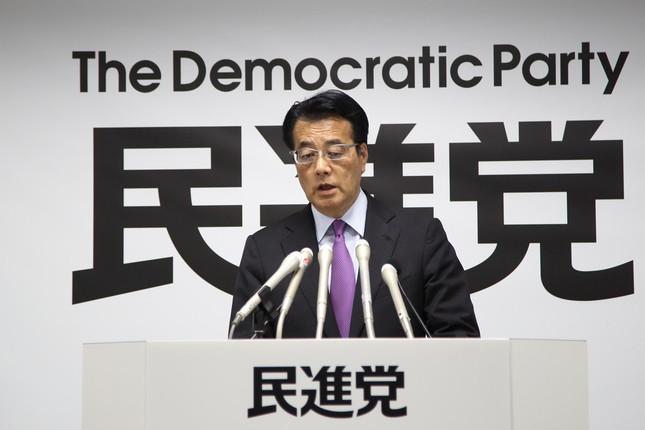 民主党…ではなく民進党代表の岡田克也氏(2016年4月撮影)