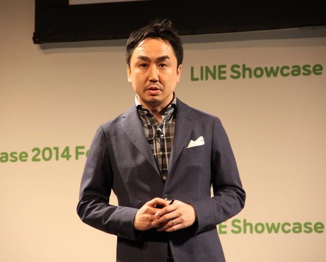 株式上場したLINEの出沢剛社長(14年2月撮影)
