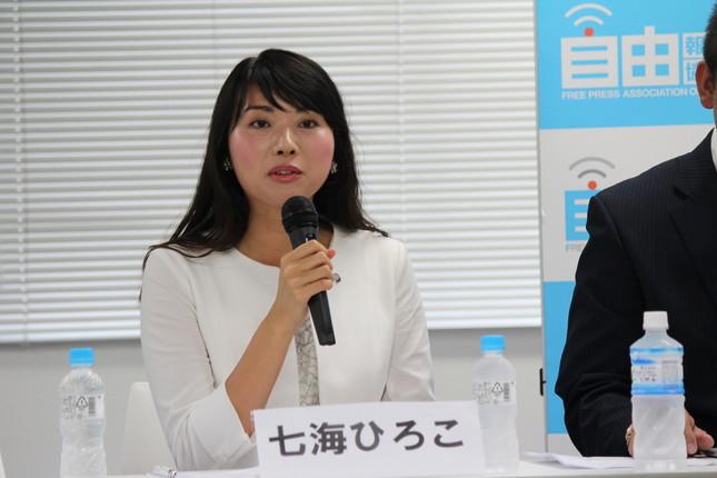 幸福実現党広報本部長の七海ひろこ氏