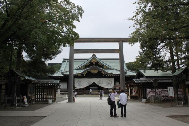 稲田氏は例年、8月15日に靖国神社を参拝していた(2013年9月撮影)