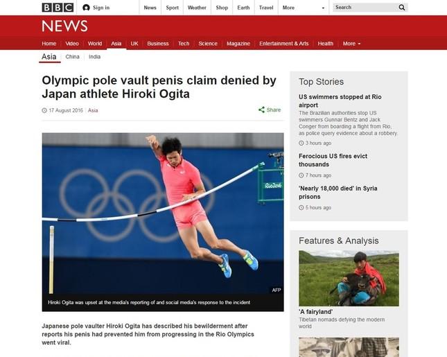 BBCは一連の騒動を荻田選手の反論を含めて伝えている