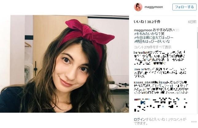 「キキみたいかな?笑」(Instagram(@maggymoon)のスクリーンショット/コメント部分は編集部で加工)