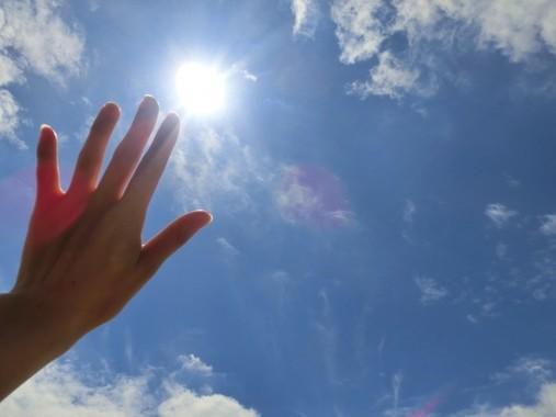 強い紫外線が体に負担となっている