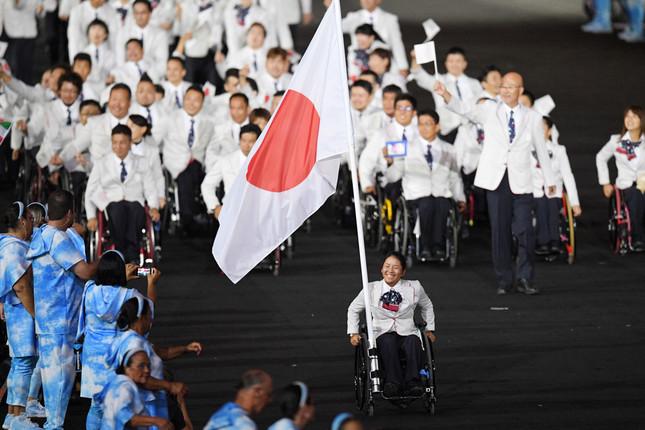 リオ・パラリンピックで大健闘した日本選手団(写真・アフロスポーツ)