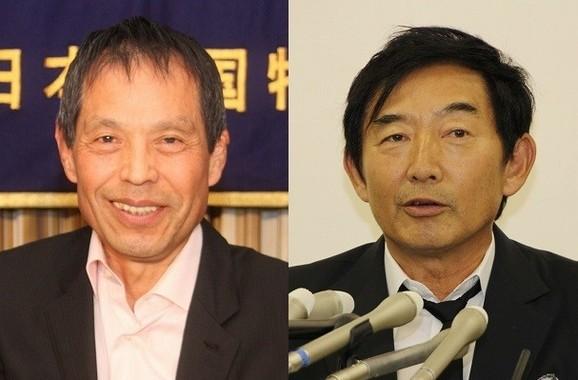 石田さんに「自分で出たら」(写真左は丸山和也氏、右は石田純一さん)